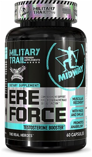 Midway Labs  Military Trail Ere Force Testosterone Booster Perspective: front