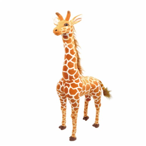 Linzy Toys Standing Giraffe Plush Perspective: front