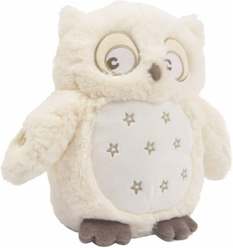 "Linzy Toys Soft Dreams Owl with Lullaby and Lights 10"" Perspective: front"