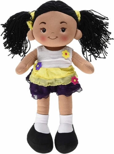 "Linzy Toys Yellow Aissa Doll 16"" Perspective: front"
