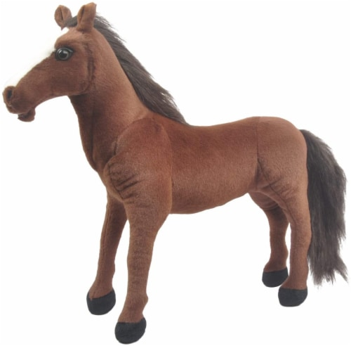 Linzy Plush Dakota Jumbo Horse Perspective: front