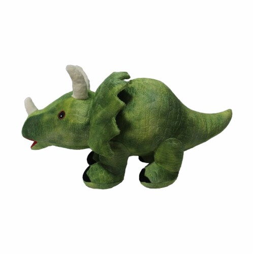 Linzy Toys Triceratops Coin Bank - Green Perspective: front