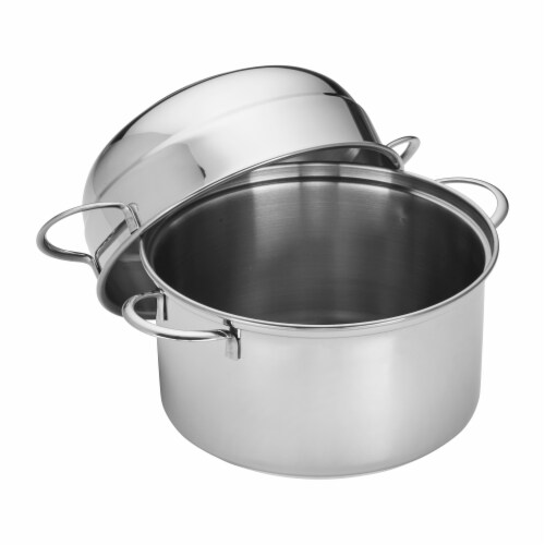 Demeyere Resto 3.2-qt Stainless Steel Mussel Pot Perspective: front