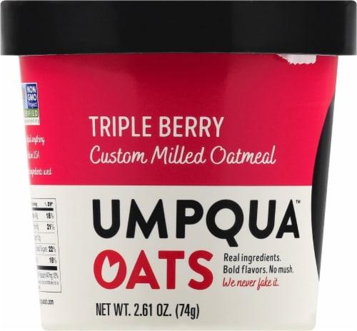 Umpqua Oats Triple Berry Oatmeal Perspective: front