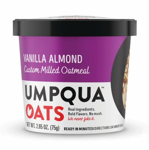 Umpqua Oats Vanilla Almond Custom Milled Oatmeal Perspective: front