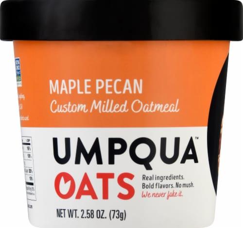 Umpqua Oats Maple Pecan Custom Milled Oatmeal Perspective: front