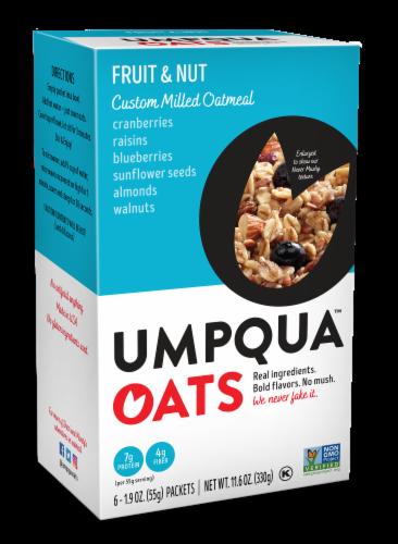 Umpqua OatsInsane Grains Fruit & Nut Fusion Oatmeal with Quinoa & Chia Gluten Free 6 Count Perspective: front