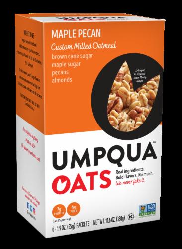 Umpqua Oats Insane Grains Maple Pecan Harvest with Quinoa & Chia Oatmeal Perspective: front