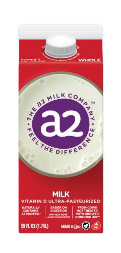 A2 Ultra-Pasteurized Whole Milk Perspective: front
