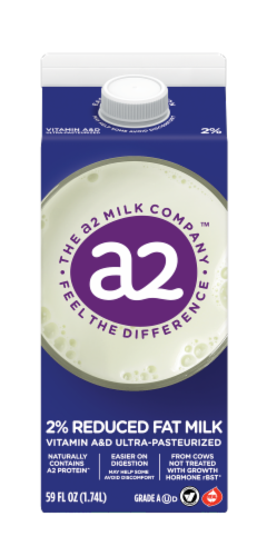 A2 Milk 2% Reduced Fat Milk Perspective: front