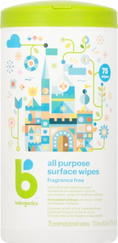 Babyganics All Purpose Surface Wipes Perspective: front