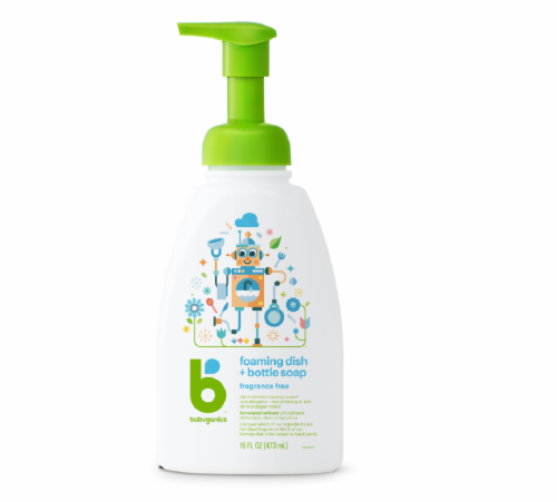 Babyganics Fragrance Free Foaming Dish and Bottle Soap Perspective: front