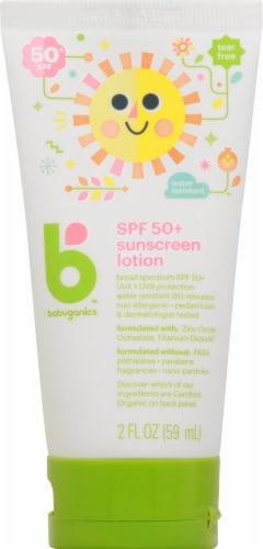 Babyganics Sunscreen Lotion SPF 50 Perspective: front