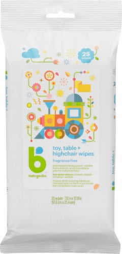 Babyganics Toy Table & Highchair Fragrance Free Wipes Perspective: front