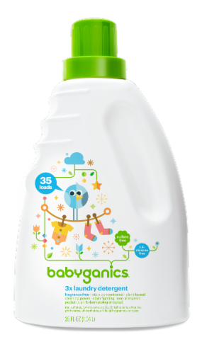Babyganics Fragrance Free Laundry Detergent Perspective: front