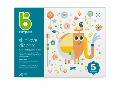 Babyganics Skin Love Size 5 Diapers Perspective: front