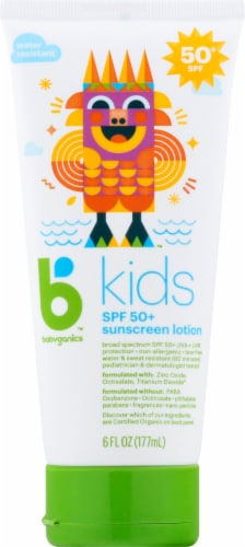 Babyganics Kids SPF 50+ Lotion Sunscreen Perspective: front