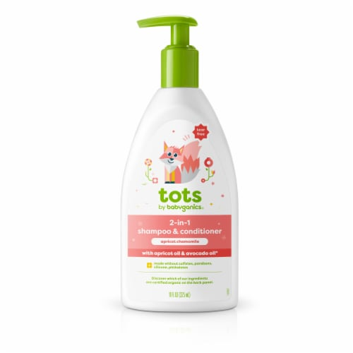 Babyganics Tots Apricot Chamomile 2-in-1 Shampoo & Conditioner Perspective: front