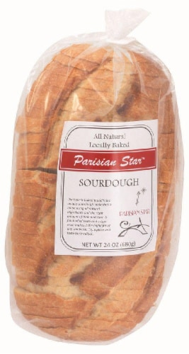The Essential Baking Company Parisian Star Sourdough Bread Sliced Perspective: front