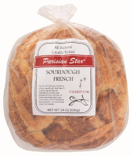 The Essential Baking Company Parisian Star Sourdough French Bread Perspective: front