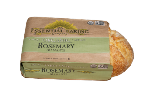 The Essential Baking Company Organic Rosemary Diamante Artisan Bread Perspective: front