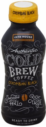 Java Cold Brew Coffee Colombian Black Perspective: front