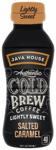 Java House Cold Brew Coffee Lightly Sweet Salted Caramel Perspective: front