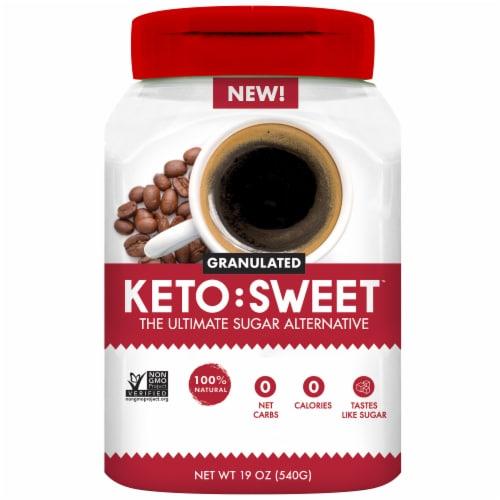 Keto:Sweet Granulated Sugar Alternative Zero Calorie Sweetener Perspective: front