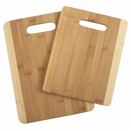 Core Home LBDST396 2 Tone Core Bamboo Cutting Boards Perspective: front