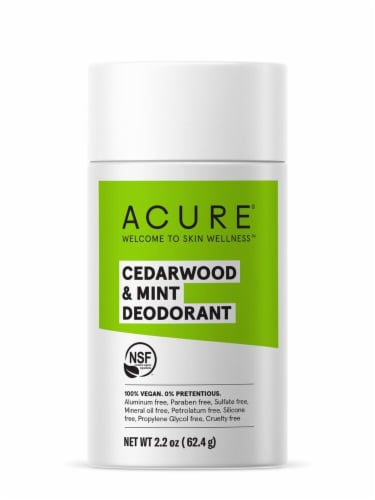 Acure Cedarwood & Mint Deodorant Stick Perspective: front