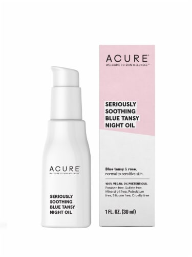 Acure Seriously Soothing Blue Tansy Night Oil Perspective: front