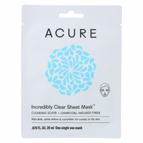 Acure  Incredibly Clear Sheet Mask Perspective: front