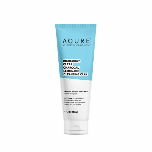 Acure Incredibly Clear Charcoal Lemonade Cleansing Clay Perspective: front