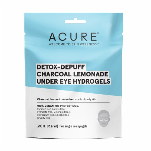 Acure Detox-Depuff Charcoal Lemonade Under Eye Hydrogels Perspective: front