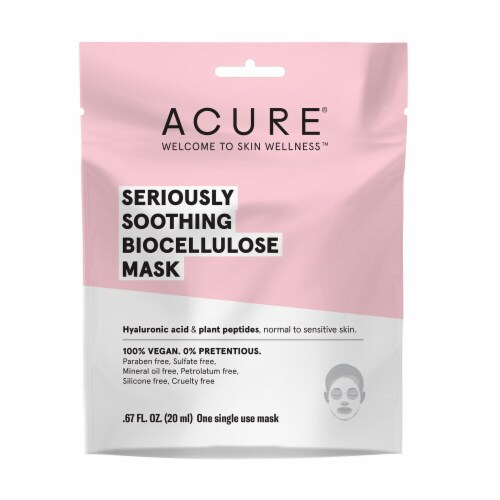 Acure Seriously Soothing Biocellulose Gel Mask Perspective: front