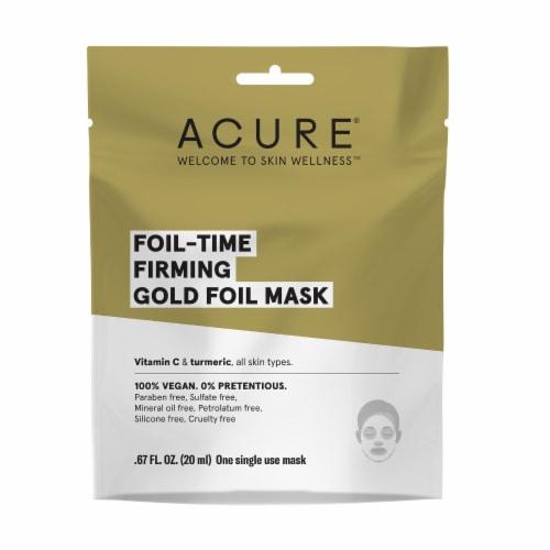 Acure Foil-Time Firming Gold Foil Mask Perspective: front