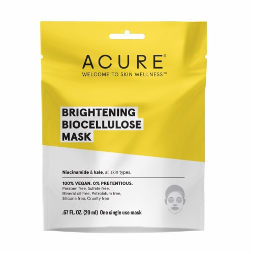 Acure Brightening Biocellulose Gel Mask Perspective: front