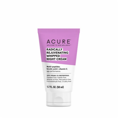 Acure Radically Rejuvenating Whipped Night Facial Cream Perspective: front