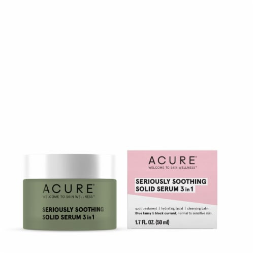Acure Seriously Soothing Blue Tansy Solid Facial Serum Perspective: front