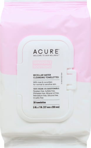 Acure Soothe Micellar Towlettes 30 Count Perspective: front