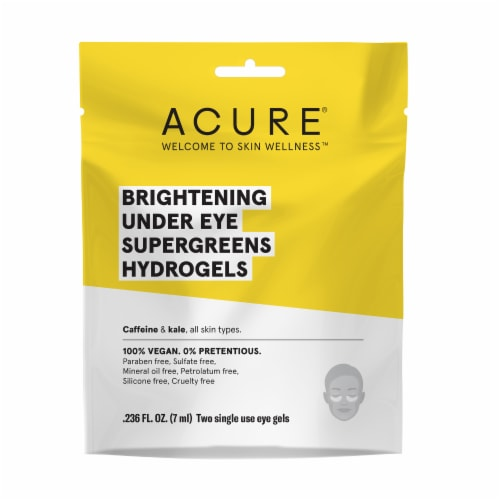Acure Brightening Under Eye Supergreens Hydrogels Perspective: front