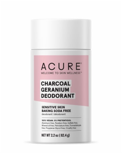 Acure Geranium & Charcoal Deodorant Perspective: front