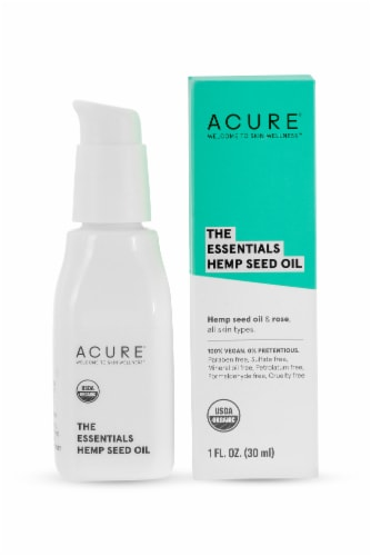Acure The Essentials Hemp Seed Facial Oil Perspective: front