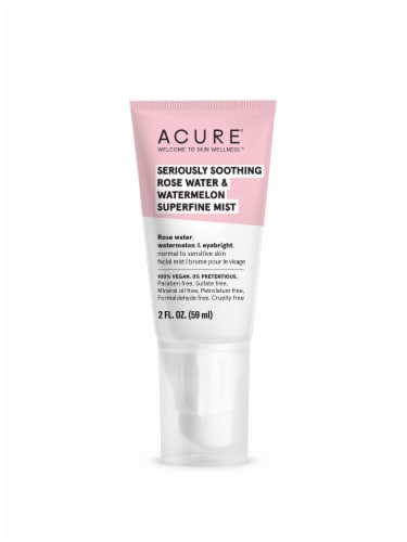 Acure Seriously Soothing Rosewater & Watermelon Superfine Mist Facial Moisturizer Perspective: front