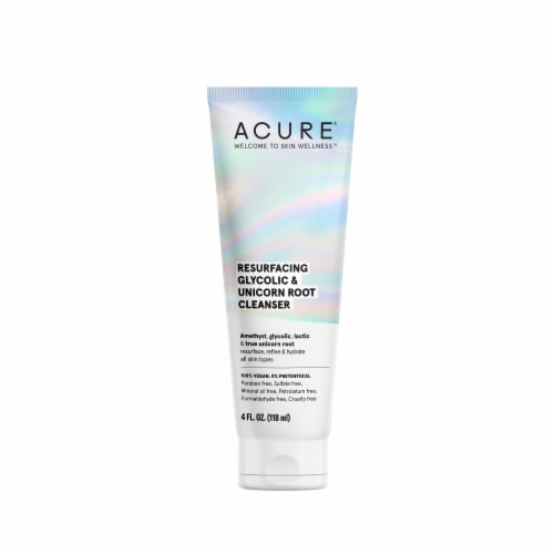 Acure Resurfacing Glycolic + Unicorn Root Cleanser Perspective: front