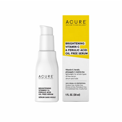 Acure Brightening Vitamin C & Ferulic Acid Oil Free Face Serum Perspective: front