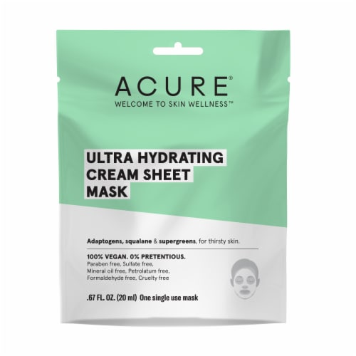 Acure Ultra Hydrating Cream Sheet Mask Perspective: front