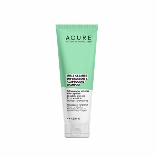 Acure Juice Cleanse Supergreens & Adaptogens Shampoo Perspective: front