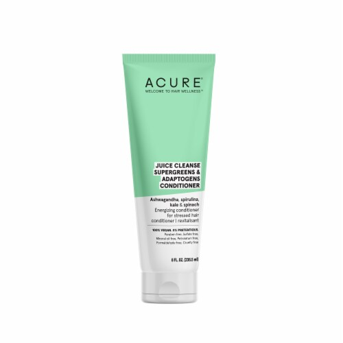 Acure Juice Cleanse Supergreens & Adaptogens Conditioner Perspective: front