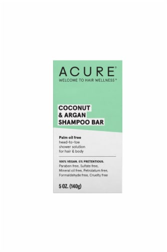 Acure Coconut & Argan Shampoo Bar Perspective: front